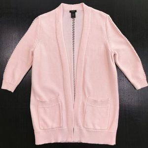 Ann Taylor Open Front Long Cardigan Sweater